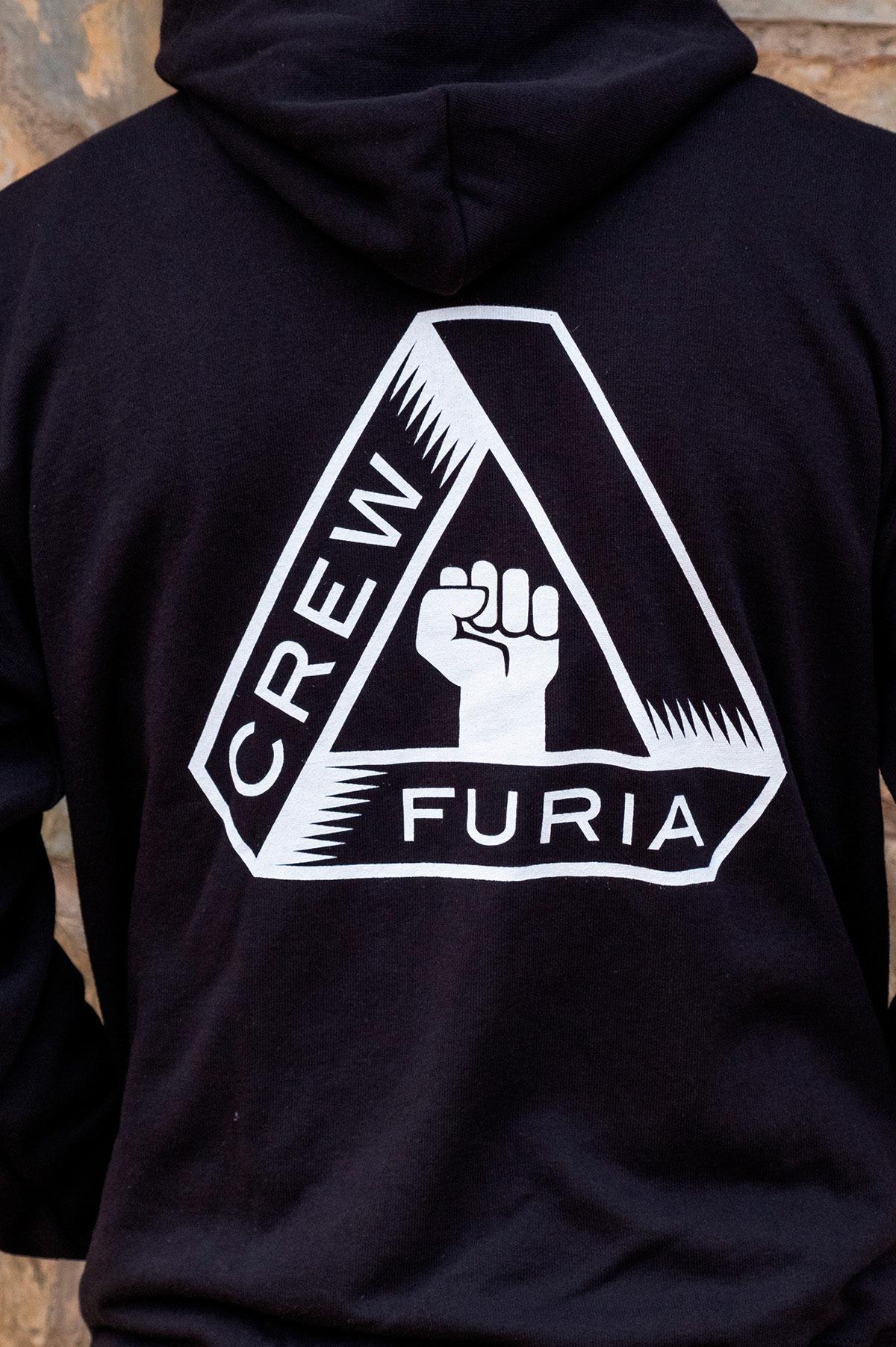 Sudadera Furia Crew Trasera